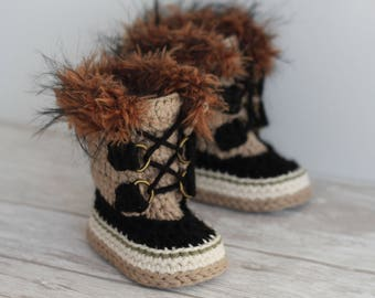 """Cool CROCHET PATTERN """"Summit Snowboots"""" Intrepid Boots PATTERN only"""
