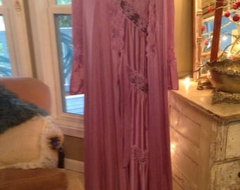Vintage Henson Kickernick Soft Purple Peignoir Gown Robe Set size