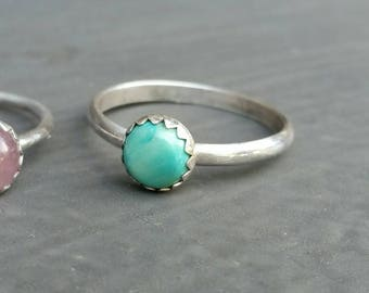 Light Turquoise Sterling Silver Ring, Boho Jewelry, Gems, Healing Crystals,