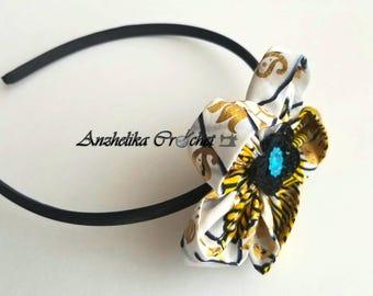 Flower Headband - Ankara Headband -  African Print Headband