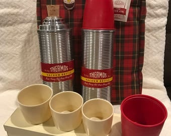 Vintage Thermos Outing Kit