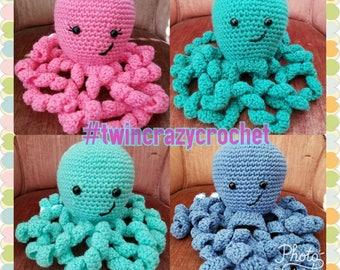 Handmade Crochet Amigurumi Stuffed Animal Octopus