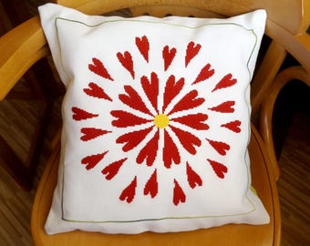 Pillow Flower - cross stitch pattern, needlepoint, pillow cover,embroidery, handbag, cross stitch, pdf instant download