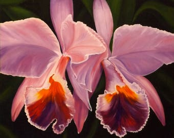 "Picture ""Orchids"", Original oil painting"