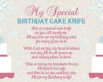 Baby Girl Cake Knife Poem