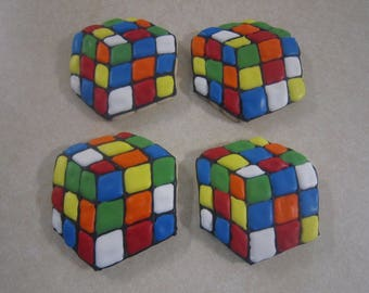 12 Rubik's Cube Hand Decorated Cookie