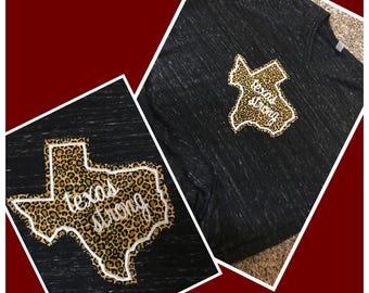 Texas Strong Cheetah Tee