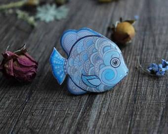 Birthday gift|for|kids Blue gift|for|daughter Gift|for|children Blue jewelry|for|baby girls Jewelry|for|little girls Fish birthday jewelry