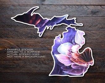 Michigan Mitten Vinyl Decal Sticker A35