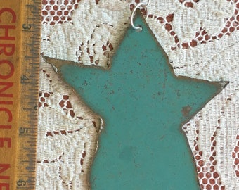 Vintage Metal Folk Star, Home Decor, Ornament,  Salvage, Primitive Old Metal Pieces, Recycled Metal, Rusty Embellishments, Mixed Media, OOAK