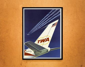 Reprint of a Vintage TWA Travel Poster