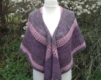 Highland Wool Knitted Shawl....Hill View