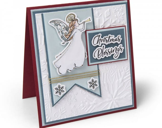 New! Sizzix Framelits Die Set 5PK w/Clear Stamps - Angel by Katelyn Lizardi 662460