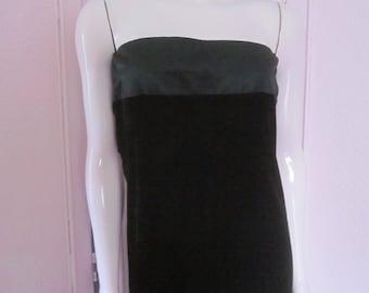 RALPH LAUREN Black Label Black Velvet Strapless Gown, Size 12