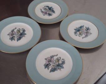 4 Royal Worcester 'Woodland' Tea Cake Plate Plates 153 mm