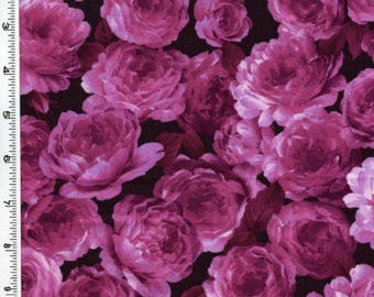 Realistic Roses Pink Floral Rose Kona Bay Fabrics #2326 By the Yard