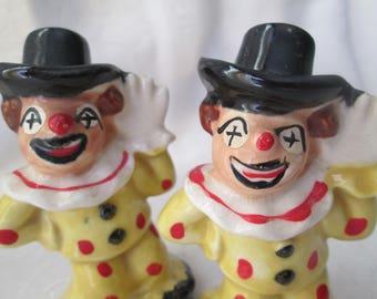 Vintage Clown Salt and Pepper Shakers