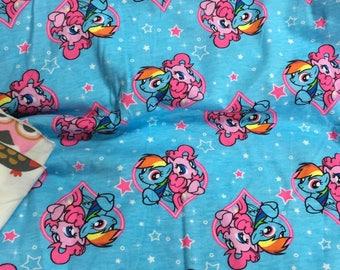 Pretty My Little Pony in blue pattern soft  Cotton 50*178 cm cotton knit 1/2 yard