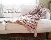 "Crochet Blanket Pattern// Beginner's Pattern// Chunky Throw // Crochet blanket // Crochet throw // 53""x46"" // simply maggie"