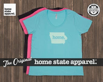 Iowa Home. T-shirt- Women's Curvy Fit