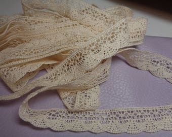 Crocheted Ivory Heritage Lace Trim-Excellent for Doll and kids clothes
