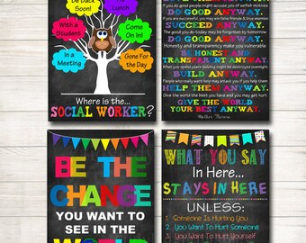 social worker posters social worker gifts social work office decor door hanger - Why Do You Want To Be A Social Worker