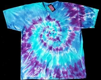 Purple Spiral Tie Dye Shirt