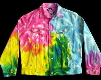 Pastel Tie Dye Jean Jacket Large The Gap
