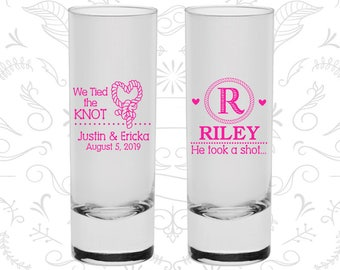Country Wedding Shooters, Shooter Glass, Monogram Shooters, He Took A Shot Shooters, Tall Shot Glass (560)