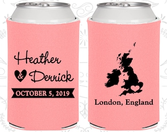 Pink Wedding, Pink Can Coolers, Pink Wedding Favors, Pink Wedding Gift, Pink Party Gift (199)