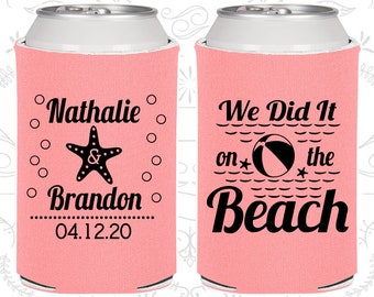 Pink Wedding, Pink Can Coolers, Pink Wedding Favors, Pink Wedding Gift, Pink Wedding Decorations (411)