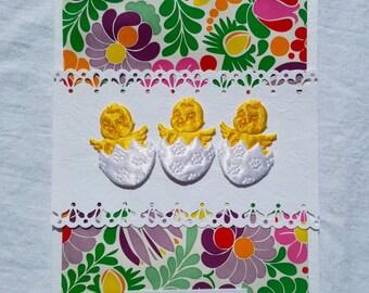 Easter Chicks Easter Handmade Card polish folk