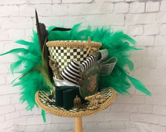 Harry Potter Mini Top Hat,  Magical Menagerie,Diagon Alley,Slytherin , Mini Top Hat Fascinator , Mini Hat Headband,Mad Tea Party hat