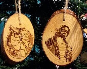 Big Lebowski Christmas Ornament Set, Hamdmade, The Dude and Walter Sobchak, 2 Ornament set