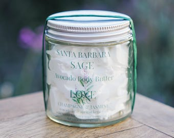 Love-Champagne  & Jasmine Avocado Butter by Santa Barbara Aromatics-Natural Lotion-Organic Lotion-Avocado Butter-Body Butter-Body Cream
