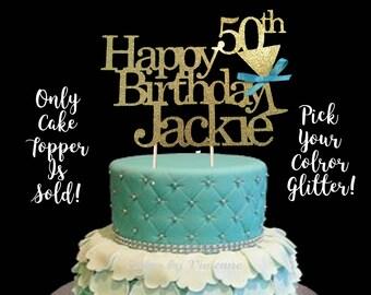 50th Birthday, 50th Birthday Cake Topper, 50th Birthday centerpiece,Any Age Birthday Cake Topper, 50th Birthday Decoration, Custom Birthday