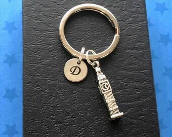 Personalised gift - Big Ben keyring - London gift - Initial keychain - London keyring - Stocking filler - Secret Santa - Stocking stuffer