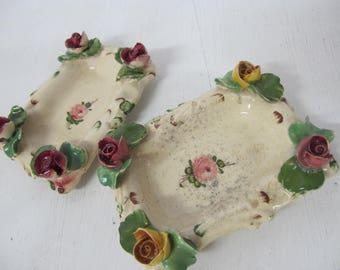 Capodimonte Dishes Italy Vintage Boudoir Porcelain
