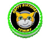 Stampy Cat round party decoration edible cake image cake topper frosting sheet