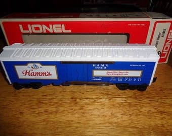 Lionel Hamms Beer refrigerated boxcar from 1975 unused in the box.,hard to find