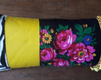 CUSHION RECTANGLE gypsy black and yellow