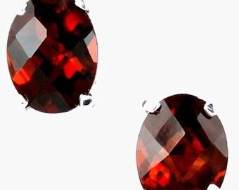 On Sale, 30% Off, Mozambique Garnets, 925 Sterling Silver Post Earrings, SE002