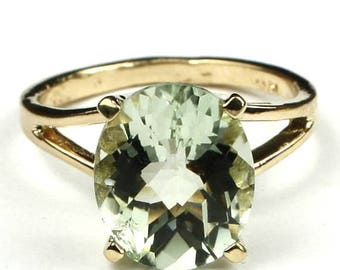 On Sale, 30% Off, Green Amethyst, 14KY Gold Ring, R132