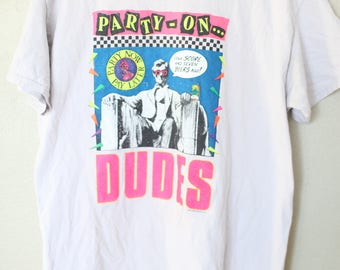vintage 1980s bill & teds adventure abe lincoln party t shirt