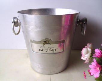 Champagne ice bucket JACQUART , French aluminium wine cooler