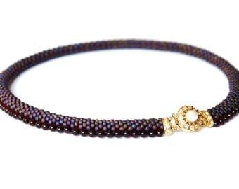 "DIY Kit Creativeset Necklace ""Alex"" (No. 4) crochet with beaded beads"