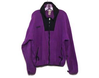 Vintage 80s Columbia fleece jacket purple black