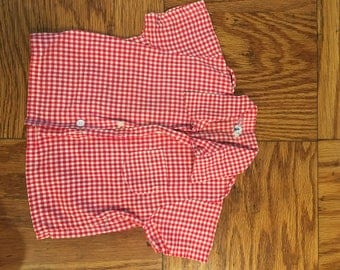 Vintage Plaid Boy's Collared Shirt