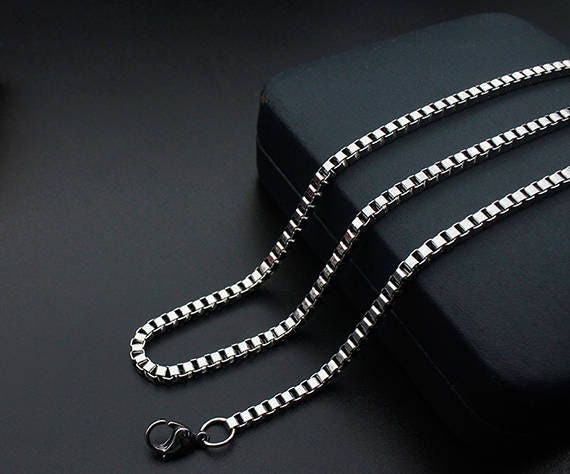 Mens necklace stainless steel chain bulk chain jewelry for Bulk jewelry chain canada