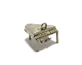 ON SALE! Grand Piano Charm, Vintage Sterling Silver 3D Charm Bracelet Gift